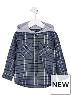 river-island-mini-mini-boys-hooded-check-shirt--nbspblue