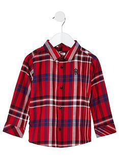 river-island-mini-boys-check-long-sleeve-shirt-red