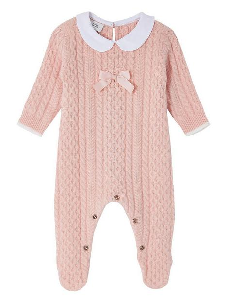 river-island-baby-girls-cable-knit-bow-babygrow-pink
