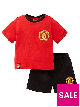 manchester-united-unisex-manchester-united-football-shorty-pjs-red