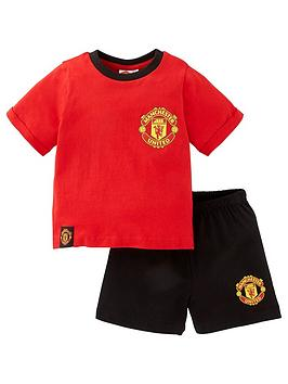 Manchester United Unisex Manchester United Football Shorty Pjs - Red