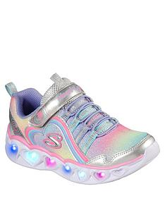 skechers-heart-lights-rainbow-trainer-silver