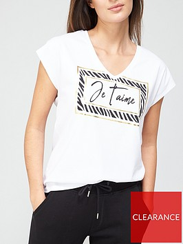 v-by-very-je-taime-foil-sqaure-t-shirt-white