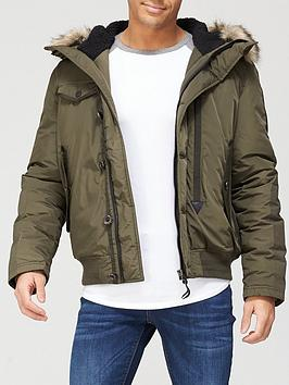 Superdry Chinook Rescue Bomber Jacket - Olive, Olive, Size Xl, Men