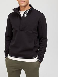 boss-one-story-quarter-zip-sweatshirt-black