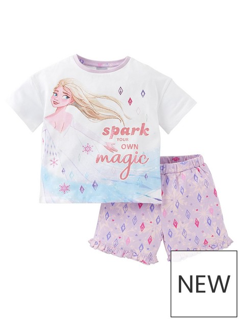 disney-frozen-girls-disney-frozen-elsa-spark-your-own-magic-shorty-pyjamas-white