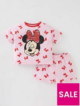 minnie-mouse-girls-disney-minnie-mouse-sequin-bow-shorty-pyjamas-pink