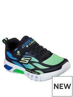 skechers-flex-glow-lighted-trainer-bluelime