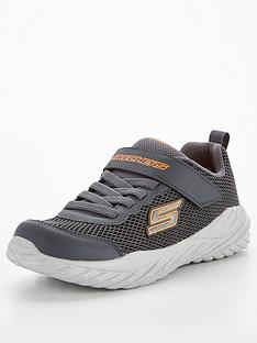 skechers-juniornbspnitro-sprint-krodon-trainer-charcoal