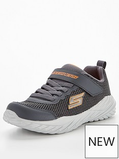 skechers-juniornbspnitro-sprint-krodon-trainer-charcoal