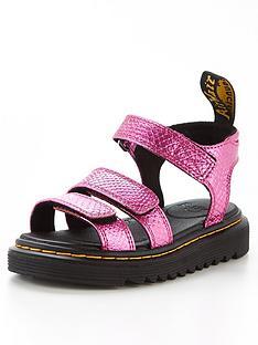 dr-martens-junior-klaire-reptile-emboss-sandal-pink