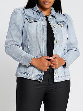 ri-plus-puff-sleeve-denim-jacket-blue