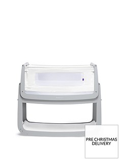 snuz-snuzpod-4-bedside-crib-with-mattress-dove-grey