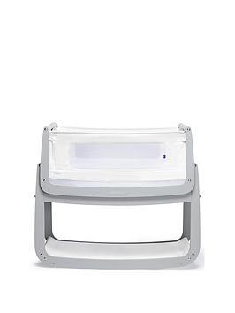 Snuz Snuzpod 4 Bedside Crib With Mattress - Dove Grey