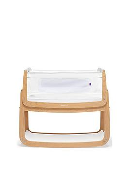 Snuz Snuzpod 4 Bedside Crib With Mattress - Natural