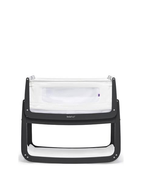 snuz-snuzpod-4-bedside-crib-with-mattress-slate