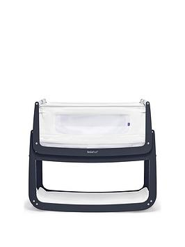 snuz-snuzpod-4-bedside-crib-with-mattress-navy