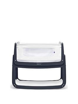 Snuz Snuzpod 4 Bedside Crib With Mattress - Navy