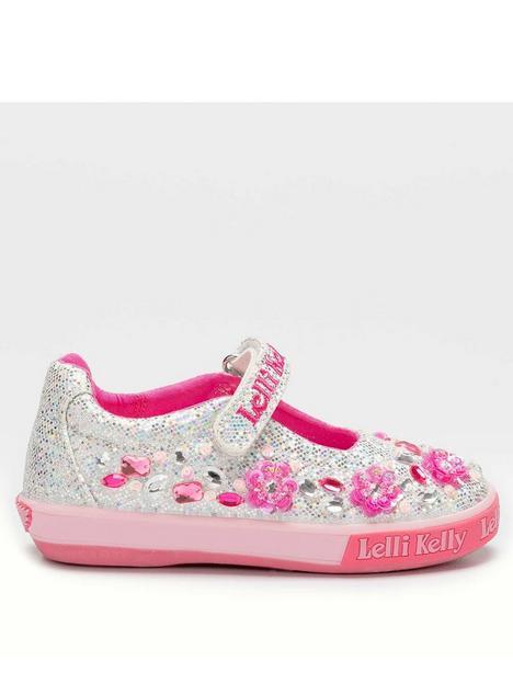 lelli-kelly-florence-flower-glitter-dolly-shoe-silver