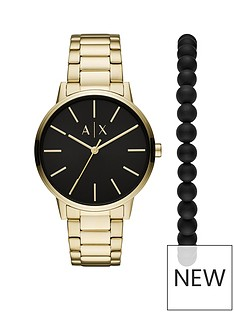 armani-exchange-black-dial-gold-stainless-steel-mens-watch-and-matching-wristwear-gift-set
