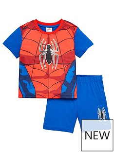 spiderman-boysnbspnovelty-shorty-pyjamas-red