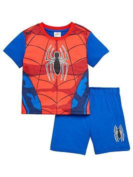 spiderman-boysnbspnovelty-shorty-pyjamas-red