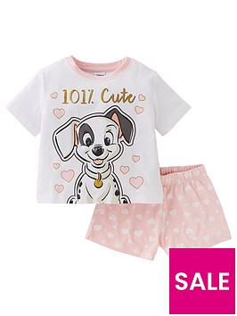 disney-101-dalmatians-girls-101nbspcutenbspshorty-pyjamas-white