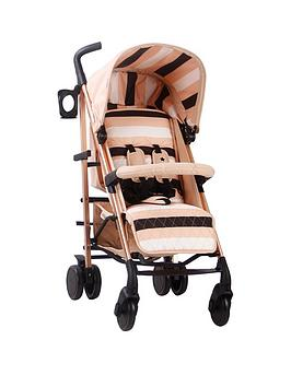 My Babiie Am To Pm Mb51 Blush Stripes Rose Gold Stroller