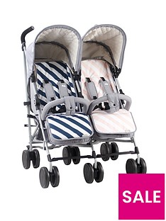 my-babiie-samantha-faiers-mb22-grey-melange-double-stroller-with-reversible-seat-liners