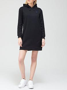 fred-perry-hooded-sweat-dress-black