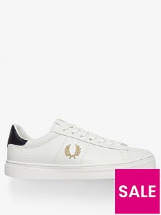 fred-perry-spencer-vulcanisednbspleather-trainers-cream