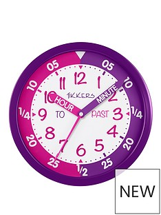 tikkers-time-teacher-wall-clock-ndash-pink-and-purple
