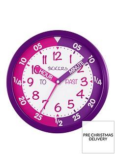 tikkers-time-teacher-wall-clock-ndash-pink-and-purple