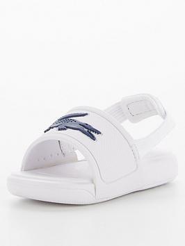 lacoste-childrensnbspl30nbsp0921-1-strap-sandalsnbsp-nbspwhitedark-blue