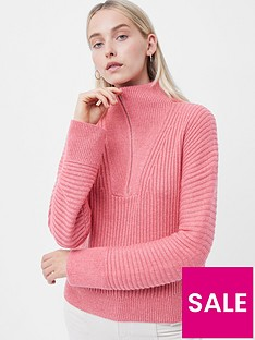 french-connection-lana-half-zip-jumpernbsp--pink