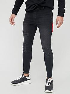 sik-silk-distressed-flight-denims-black