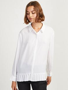french-connection-crepe-light-pleat-shirt--white