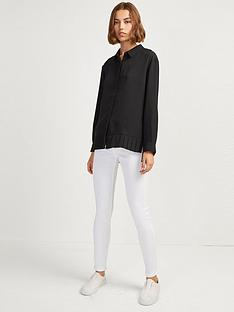 french-connection-crepe-light-pleat-shirt--black