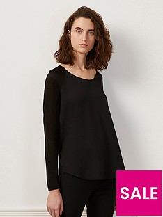 french-connection-polly-plain-long-sleeve-top