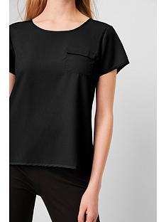 french-connection-classic-crepe-pocket-tee-black