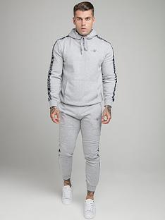 sik-silk-fleece-overhead-hoodie-tracksuit-grey