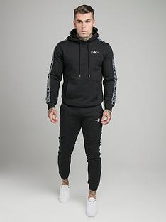 sik-silk-fleece-overhead-hoodie-tracksuit-black
