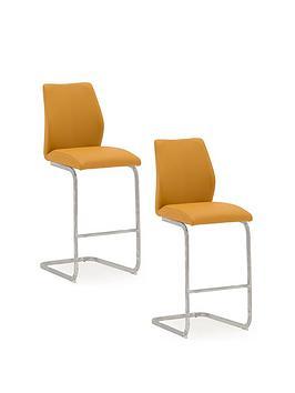 vida-living-enis-pair-of-bar-chairs-orange