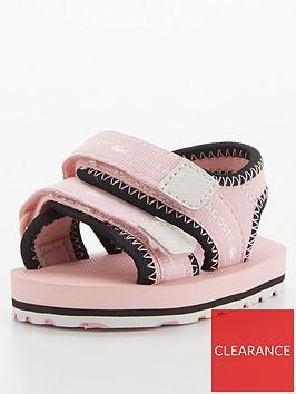 lacoste-childrensnbspsol-0921-1-strap-sandals--nbsppinkblack