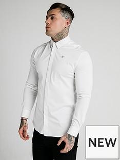 sik-silk-long-sleeve-cotton-shirt-white