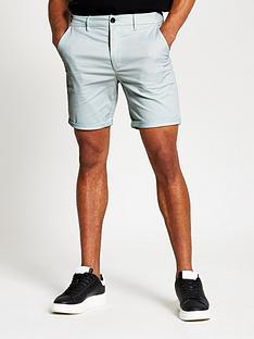 river-island-vienna-skinny-chino-shorts-mint