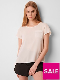 french-connection-classic-crepe-pocket-tee-white