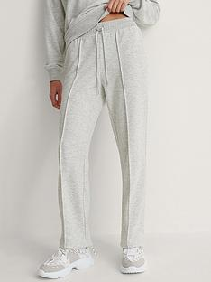 na-kd-seam-detail-sweatpants-grey