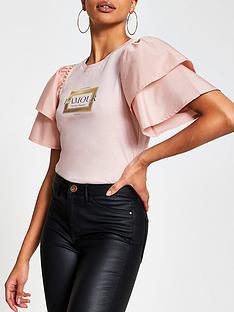 river-island-frill-taffeta-sleeve-pearl-trim-t-shirt-pink