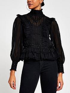 river-island-victoriana-frill-detail-blouse-black